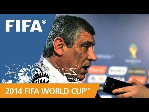 Greece's Fernando SANTOS Final Draw reaction (Portuguese)