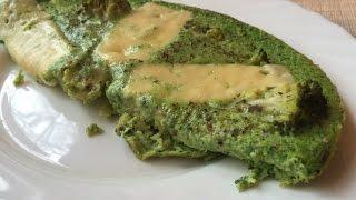 Омлет со шпинатом и брокколи