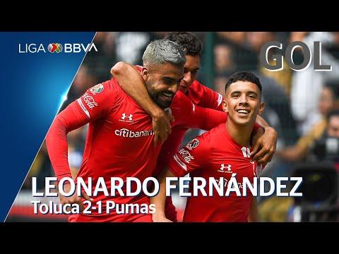 Toluca [2] - 1 Pumas (L. Fernández 38')