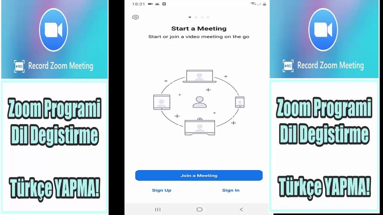 Zoom Uygulamasi Nasil Turkce Yapilir Android Telefon Icin Dil Degistirme Var Mi Youtube
