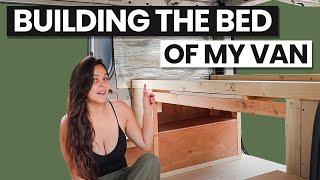 SOLO FEMALE VAN CONVERSION (Building A Bed)