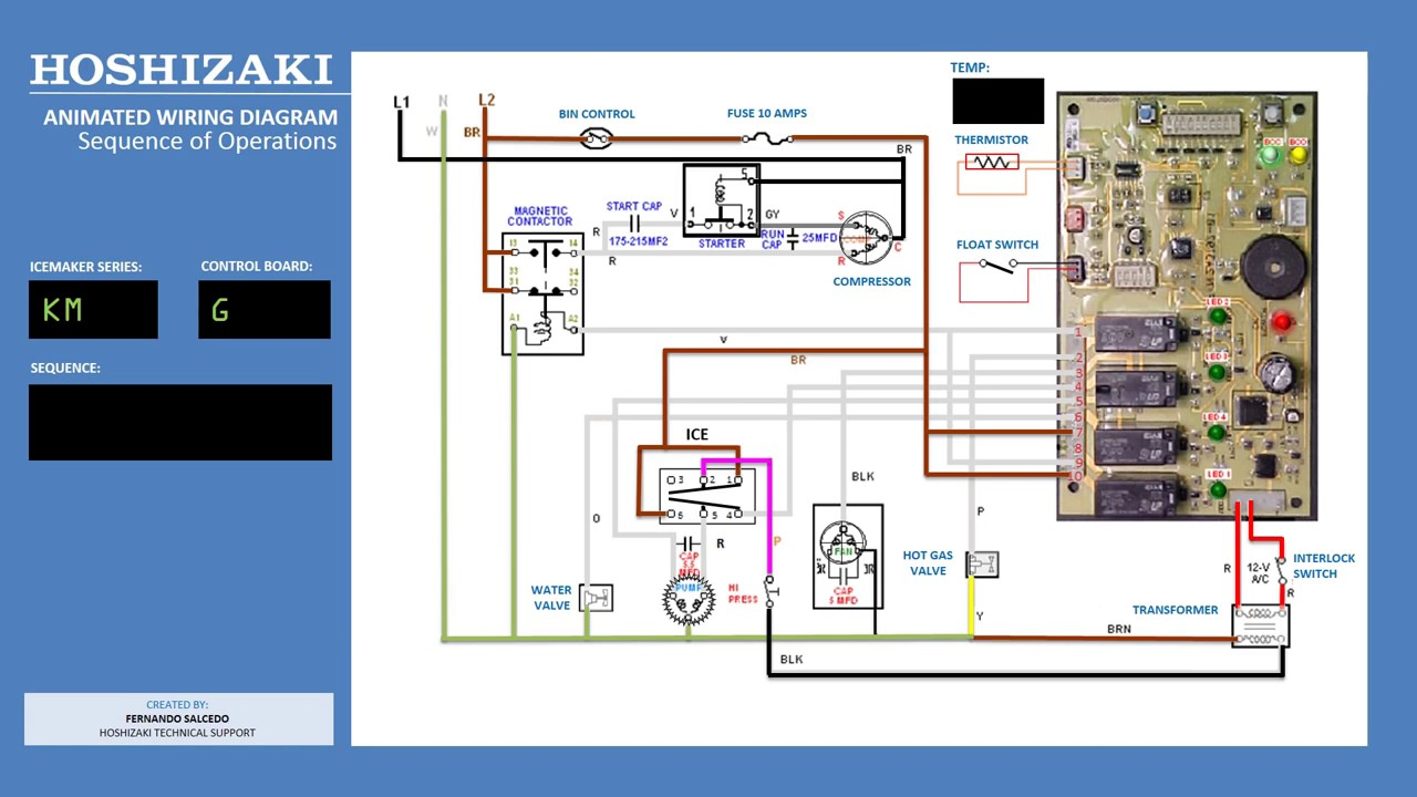 Ice Maker Diagram Trailer Wiring 4 Way Hoshizaki Km Icemaker G Control Board Animated - Youtube