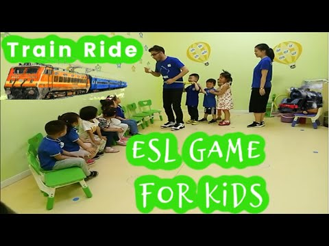 233 - Train Ride | ESL Game for Small kids | Classroom Game | Mux's ESL games |