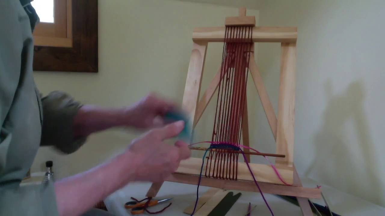 weaving on your simple frame loom