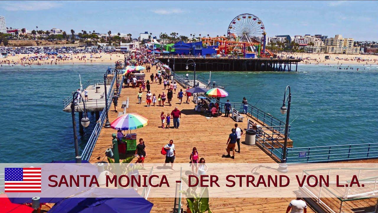 Santa Monica Beach The At Los Angeles