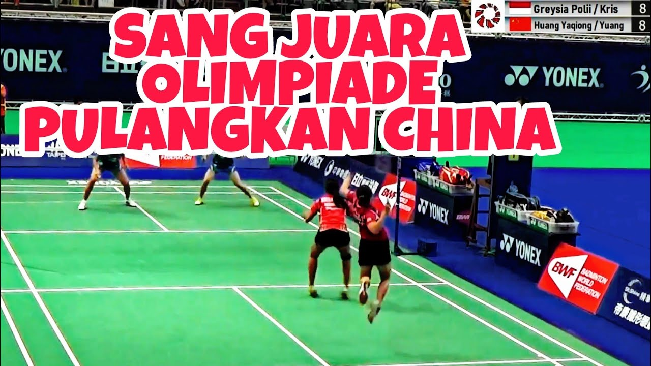 Download Greysia Polii Tau cara Hentikan Ganda China | Olympic Champions Polii against the fast-moving China