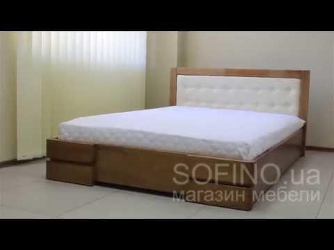 Ролик Деревянная кровать Регина