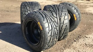 New tires VBW и STRYDER на YFZ450r/  unboxing  посылки из сша на  Banshee 350