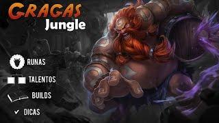 Como Subir de Elo - Gragas Jungle Season 6 Build Talentos Runas e Dicas