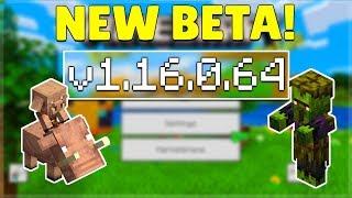 MCPE 1.16.0.64 BETA NETHER UPDATE! Minecraft Pocket Edition Changes & Dancing Hoglins?