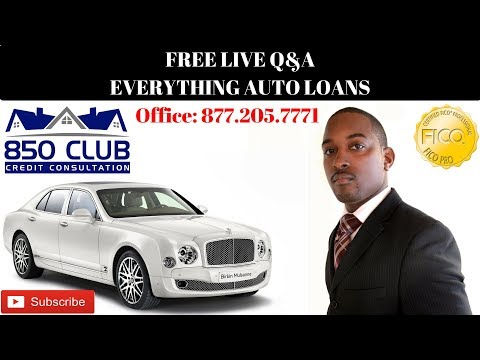 FREE LIVE Q&A: Auto Loans Etc