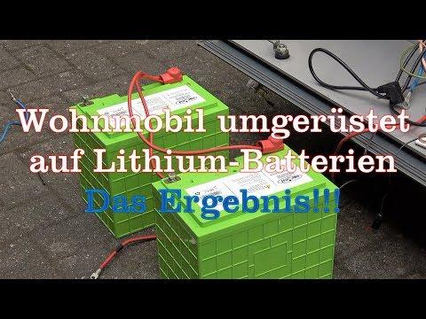 Test-Ergebnis nach Umrüstung auf Lithium Batterie beim Womo