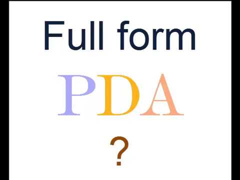what does pda stand for