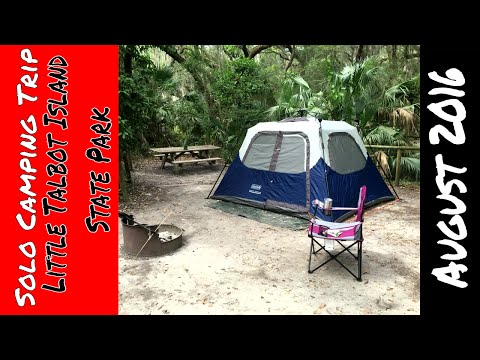 Solo Camping Trip - Little Talbot Island State Park August 2016