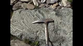 promenade geologique en Queyras: les plis et les failles