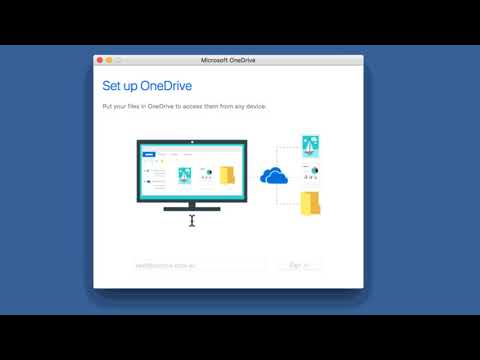 How to install and log into OneDrive on a Mac