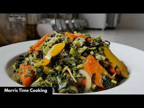 How To Peel, Clean And Cook Callaloo | Jamaican Style | Lesson #68 | Morris Time Cooking