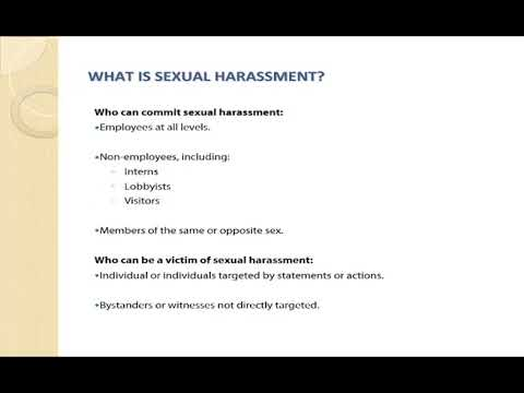 Individual sexual harassment training