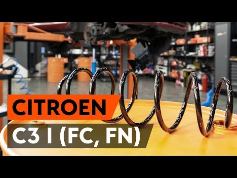 Как заменить пружину передней стойки амортизатора CITROEN C3 1 (FC, FN) [ВИДЕОУРОК AUTODOC]