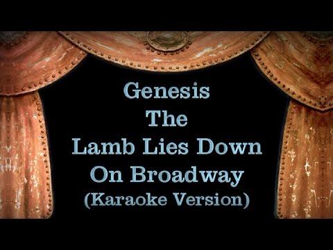 Genesis - The Lamb Lies Down On Broadway - Lyrics (Karaoke Version)