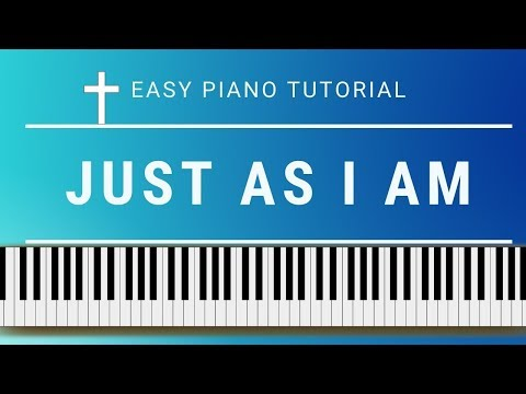 Just As I Am: piano hymn tutorial with free sheet music thumbnail
