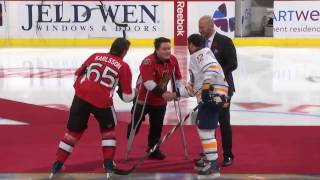 Hockey Fights Cancer Ceremonial Puck Drop