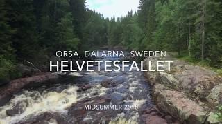 Helvetesfallet and Storstupet outside Orsa in Dalarna, Sweden