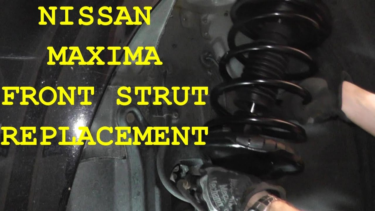 nissan maxima front shock strut replacement youtube. Black Bedroom Furniture Sets. Home Design Ideas