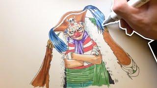 One Piece: Drawing Buggy (バギー)