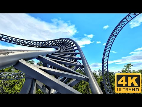 [360 VR] Steel RollerCoaster Simulator for Google Cardboard 360° 3D Video split screen SBS