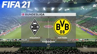 Fifa 21 - borussia mönchengladbach vs. dortmund   next-gen on ps5