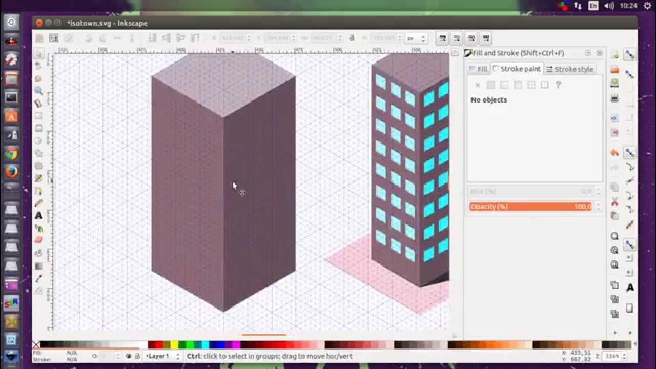 Inkscape Isometric Office Building Tutorial Youtube
