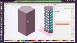 Inkscape Isometric office building tutorial