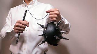 【100均DIY】モーニングスター?フレイル?破壊の鉄球?を作ってみた。その他工作 (作り方)