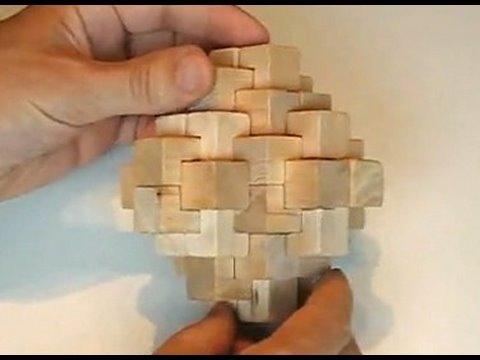 24 piece burr puzzle assembly