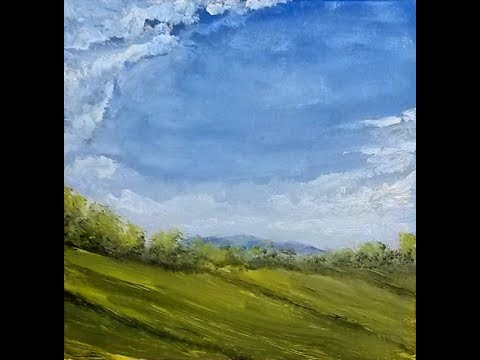 Mountain View – Painting Lesson, Acrylic Landscape