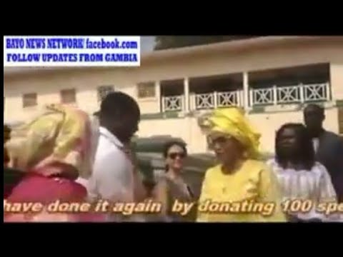 Gambia's First Lady, Fatoumata Bah Barrow Visits The Edward Francis Small Teaching Hospital