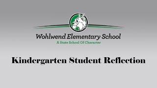 WES Kindergarten Reflection Thumbnail