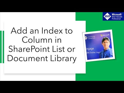 Add An Index To Column In SharePoint Online/2013/2016 List Or Document Library
