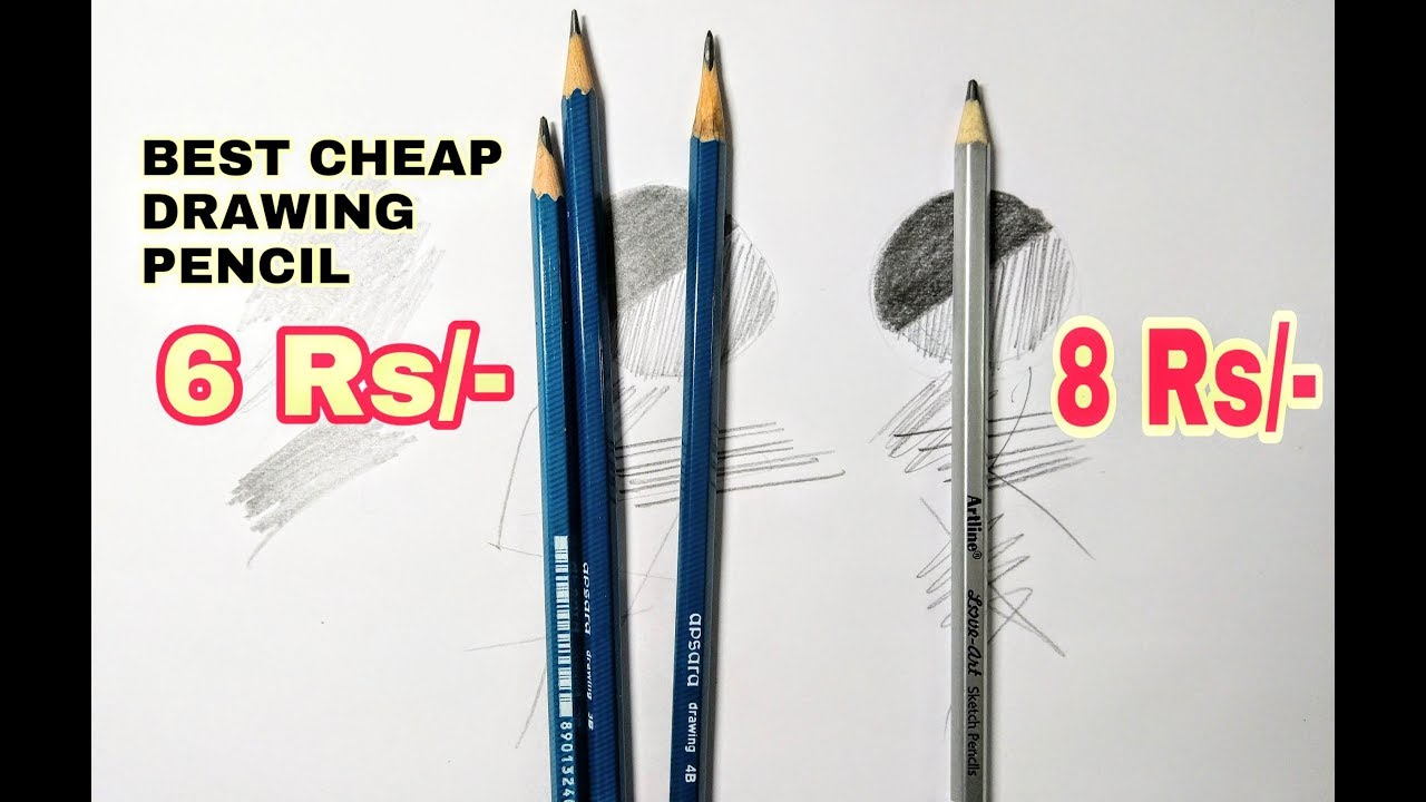 Best cheap drawing pencils for beginners in hindi apsara pencil vs artline pencil