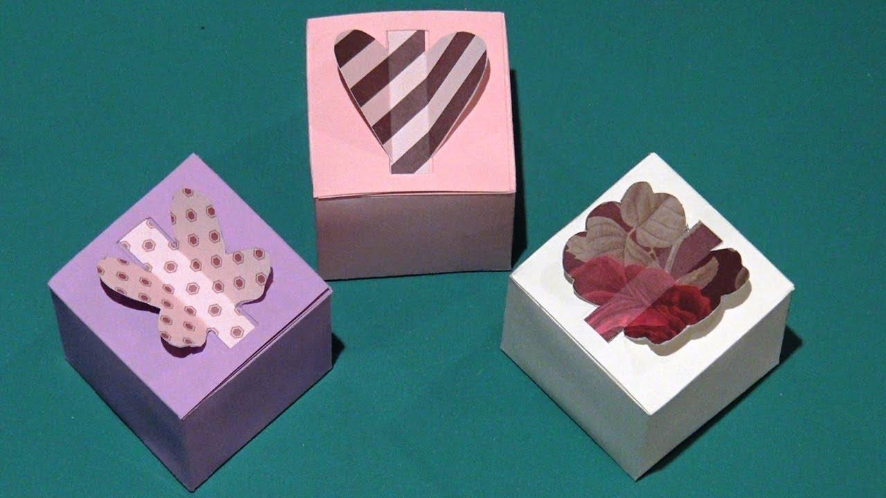 diy boite cadeau en papier comment faire une boite carr e en forme de coeur papillon youtube. Black Bedroom Furniture Sets. Home Design Ideas