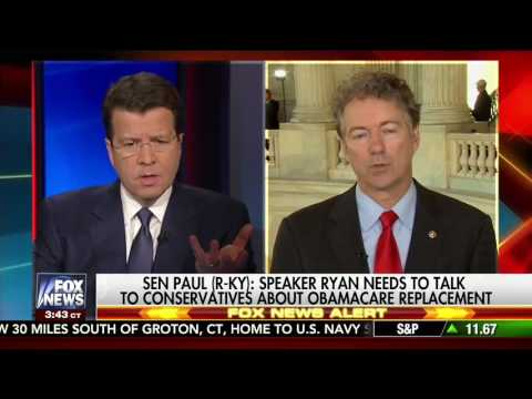 Rand Paul Disagrees with Paul Ryan and the Elites on Repealing Obamacare