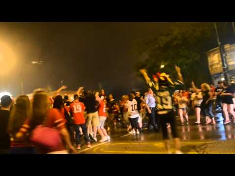 Chicago Blackhawks Fans Celebrate 2015 Stanley Cup Championship