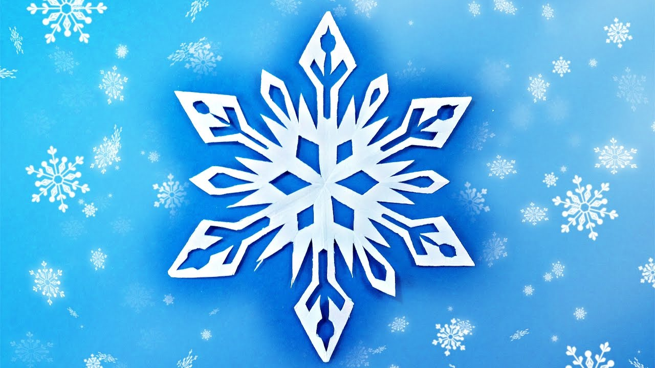 origami snowflake easy frozen tutorial paper instructions