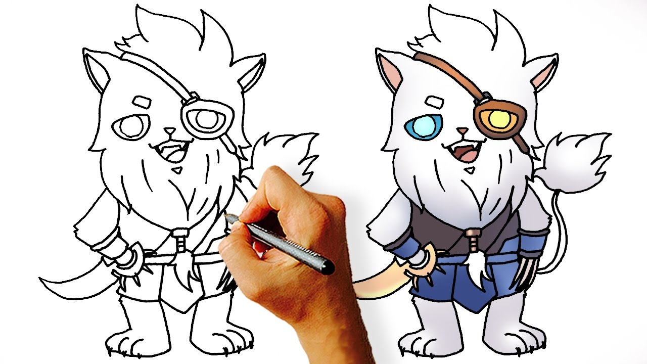 How To Draw Rengar Chibi League Of Legends Champions Step By Step