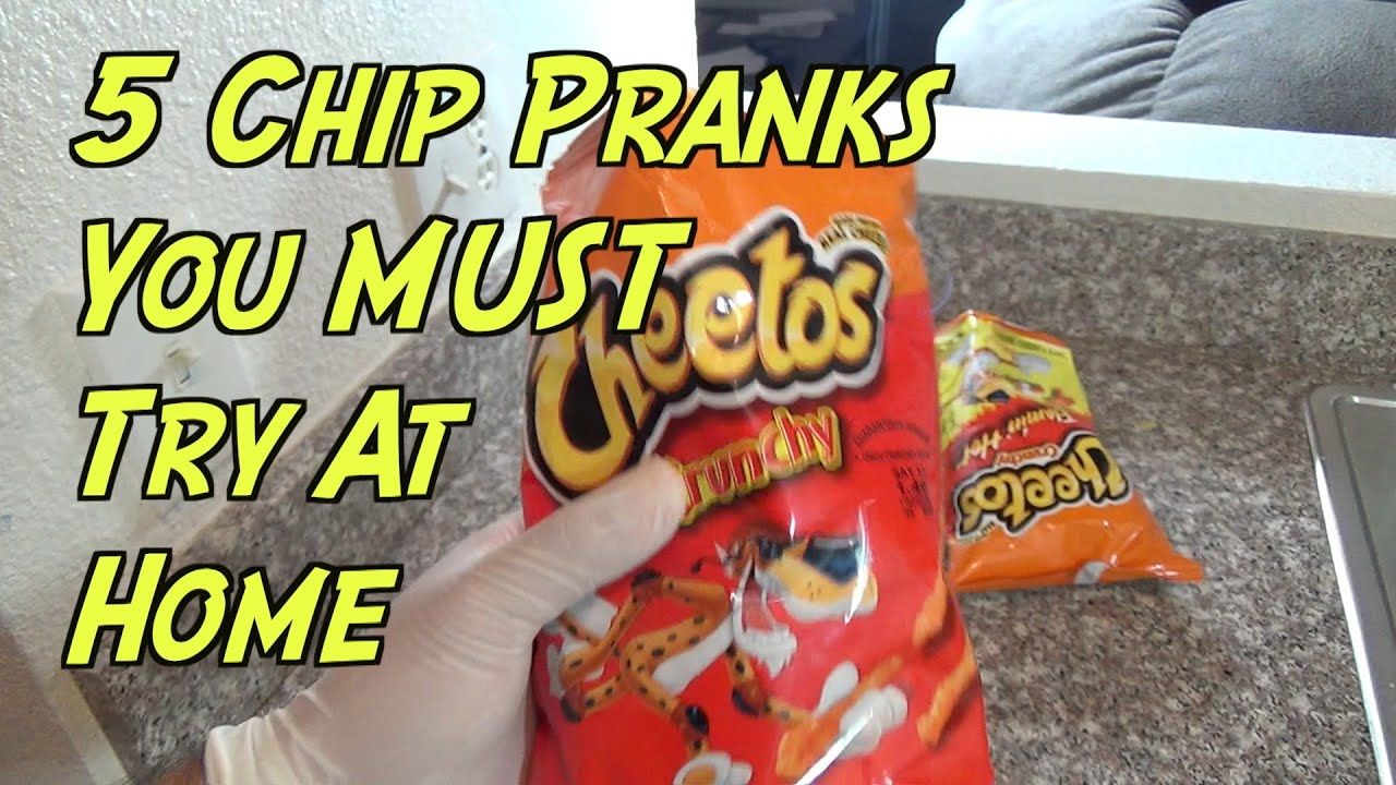 5 Chip Pranks You Can Do At Home- HOW TO PRANK - YouTube