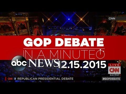 Fifth Republican Presidential Debate In A Minute