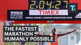 The fastest marathon humanly possible