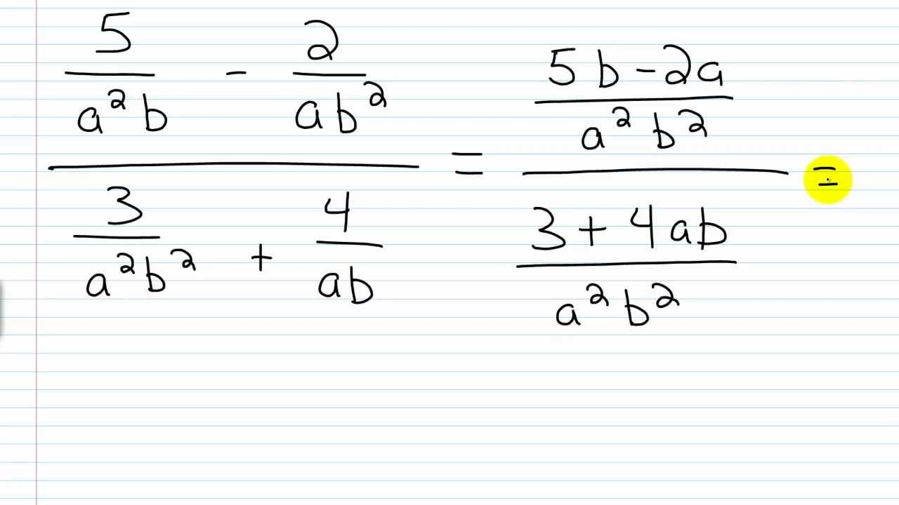Algebra I Help: Rational Expressions/Complex Fractions Method I ...