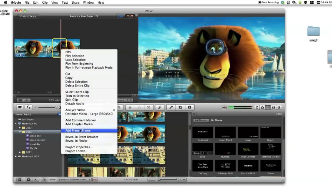 How to Do Freeze Frame in iMovie - YouTube